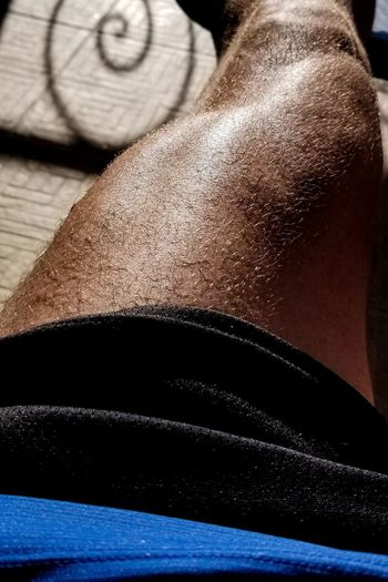 Athlete Triathlete Strength Leg Muscles After Training Healthy Lifestyle Caribbean Life Puerto Rico Muscular Build Gym Exercising Sport Close-up