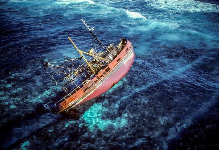 Boult Reef Pacific Lady Abandoned Beauty In Nature Blue Day Great Barrier Reef High Angle View Mode Of Transportation Motion Nature Nautical Vessel No People Outdoors Sea Ship Shipwreck Sinking Sport Tranquility Transportation Travel Turquoise Colored Water