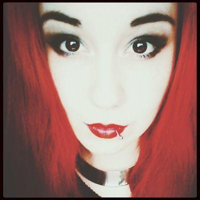 Drop dead redhead. Makeup Redhead Lipstick Big Eyes