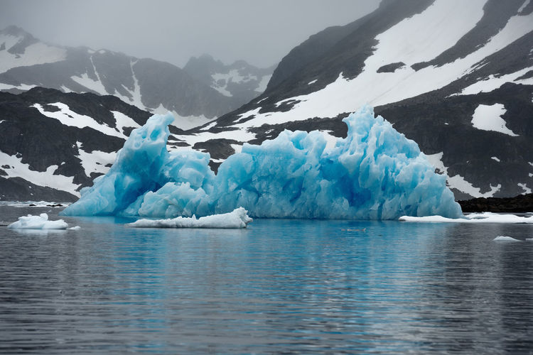 Blue glacier ice, at the settlement Kulusuk, on the east coast of Greenland. Global Warming Greenland Melting Arctic Beauty In Nature Blue Climate Change Cold Cold Temperature Environment Floating On Water Frozen Glacier Ice Iceberg Iceberg - Ice Formation Landscape Mountain No People Scenics - Nature Sea Seascape Turquoise Colored Water Winter
