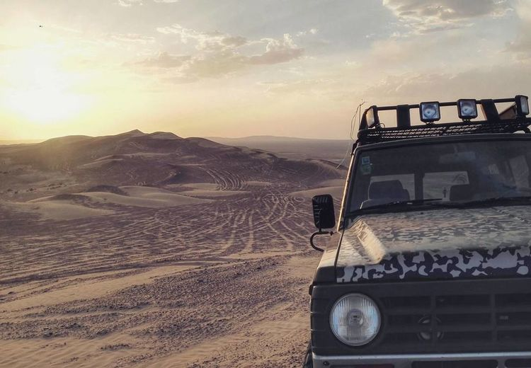 Car Outdoors Day Yazd Desert Iran Adventure Middle East Sunset Sand Dunes Travel Travel Destinations Travel Photography