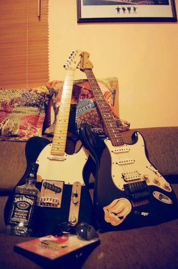 Hi! Taking Photos My Guitars Music Time