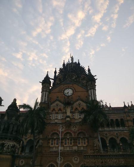 Chhatrapati Shivaji Terminus!! #worldheritagesite #shotononeplus City Business Finance And Industry Architecture First Eyeem Photo