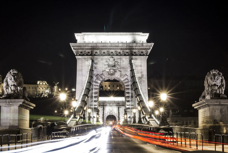 Chain Bridge at night. Budapest, Hungary Architecture Blur Budapest Budapest, Hungary Cars Chain Bridge Citynightlights Cityscape Europe Holiday Hungary Lights Long Exposure Night Night Lights Night Photography Nightlights Nightphotography Nightscape Old Travel Vacations Fresh On Market 2017