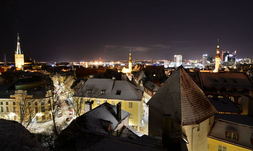 Tallinn old town by night. Estonia Tallinn Tallinn Old Town Tallinna Tallinn Estonia Estonia Baltic Northern Europe Architecture Building Exterior City Cityscape Illuminated Built Structure Building Residential District Night Roof Travel Destinations Outdoors TOWNSCAPE Settlement Tourism Destination Winter