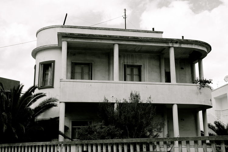 Architecture Architecture Architecture_collection Black And White Built Structure Cloud Exterior Monochrome No People Sky Tunis