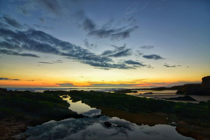 Water Sunset Blue Reflection Lake Summer Sky Horizon Over Water Landscape Cloud - Sky Tide Silhouette Dramatic Sky Romantic Sky Outline Wave Orange Color Forked Lightning Sky Only Low Tide Coastal Feature Marram Grass Rushing Moody Sky Storm Cloud Seascape Shore Star Field Salt Basin Atmospheric Mood
