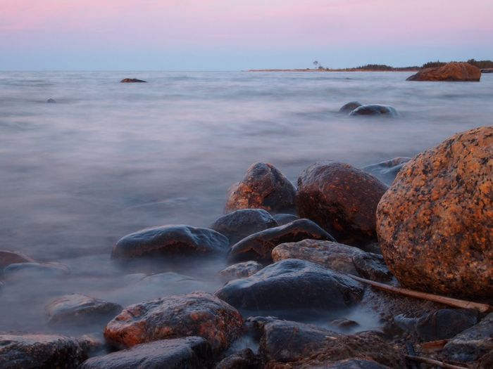 Baltic Sea Beach Beauty In Nature Day Horizon Over Water Long Exposure Nature Nature_collection Naturelovers No People Outdoors Pebble Pebble Beach Scandinavia Scenics Sea Sky Sunset Tranquility Water Wave
