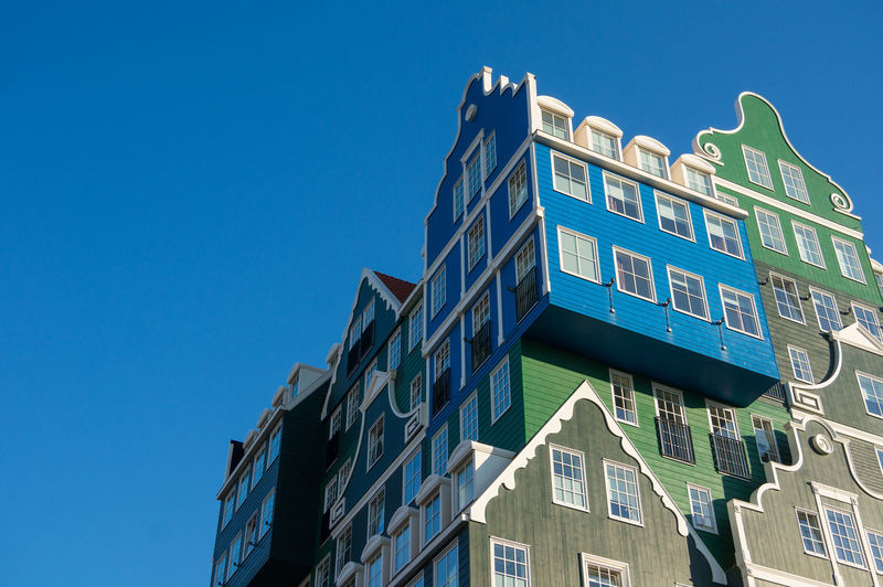 Inntel Hotels Nederland Zaandam Architecture Blue Building Exterior Built Structure City Clear Sky Day Holland Holland❤ Low Angle View Modern No People Outdoors Sky Window