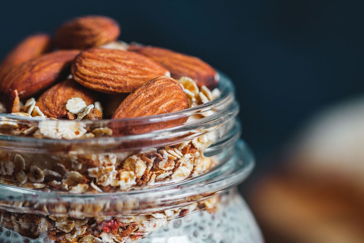 Breakfast Close-up Day Food Food And Drink Freshness Fruit Granola Healthy Eating Indoors  Jar No People Nut - Food Oat Flake Oats - Food Raisin Ready-to-eat Sweet Food