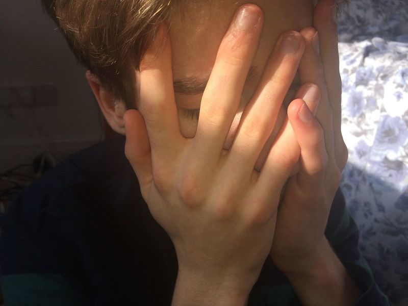 Long Goodbye Sadness Shelter Hands Psychological