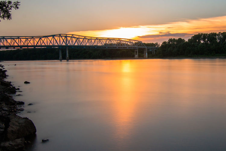 Sunset river.