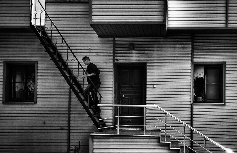 The Architect - 2016 EyeEm Awards Home Blackandwhite Human Stairs Stairs_collection Staircase Stairs & Shadows Mersin Turkey The City Light
