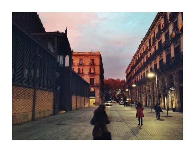 Diagonale catalane Barcelona Walking Architecture Building Exterior Built Structure City Dog Sky Outdoors People Adult
