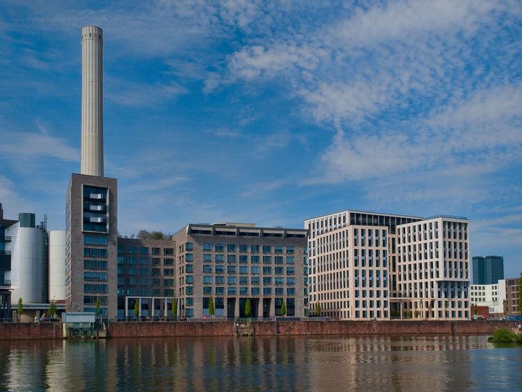 Westhafen in Frankfurt am Main. Architecture Architecture City Cloud - Sky Frankfurt Am Main Reflection River Water Westhafen The Architect - 2016 EyeEm Awards