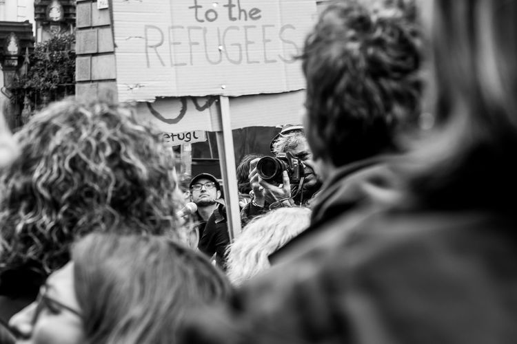 Last shots from the European March for the Refugees Rights held on February 27 in Barcelona Blackandwhite Documentary Photography European March For The Refugees Rights Monochrome Monochrome_life People Street Streetphoto_bw Streetphotography