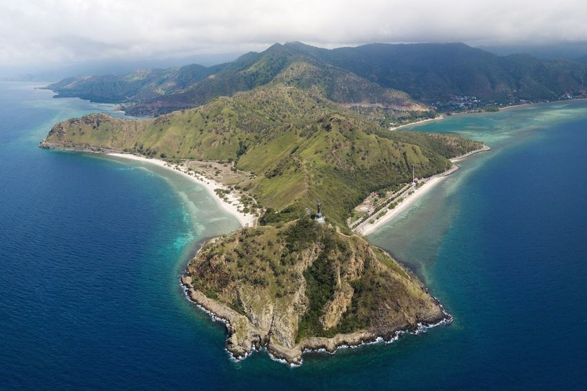 Dili Pano Water Sea Scenics - Nature Aerial View Beauty In Nature Tranquility Land Mountain Environment Tranquil Scene High Angle View No People Island Landscape