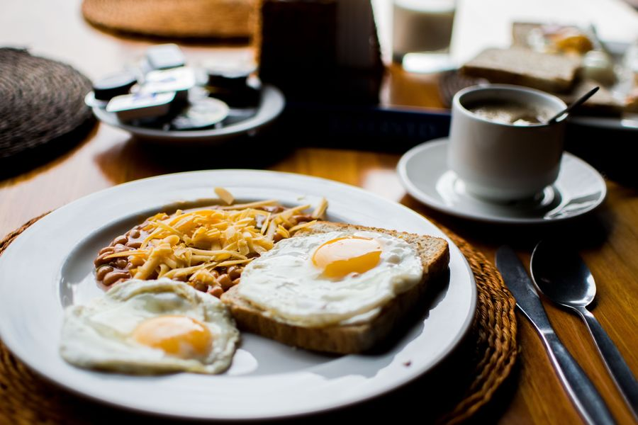 Breakfast Close-up Coffee - Drink Coffee Cup Day Egg Food Food And Drink Fork Freshness Fried Egg Healthy Eating Indoors  No People Plate Ready-to-eat Table