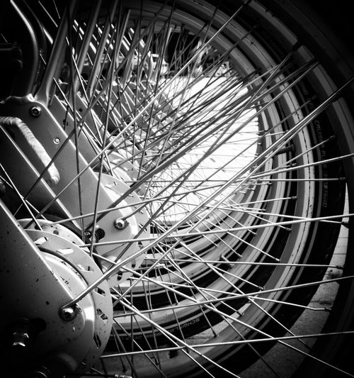 Call a bike Blackandwhite Black And White Blackandwhite Photography Black&white Bycicle City Spiral Staircase Ferris Wheel Close-up Architecture Built Structure