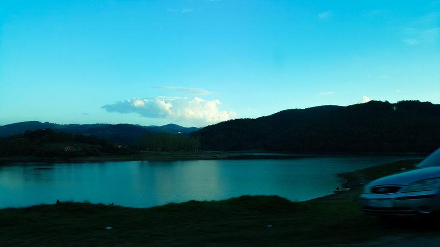 Water Mountain Tree Lake Clear Sky Reflection Blue Sky Landscape Mountain Range Star Field