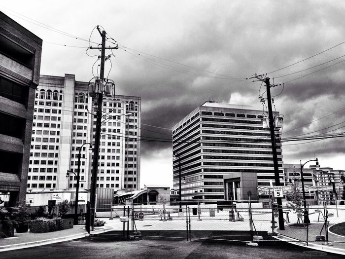 Black And White Transit Storm Clouds