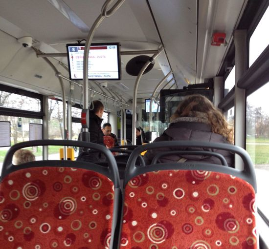 In the bus Vehicle Interior Transportation Mode Of Transportation Vehicle Seat Real People Sitting Travel Public Transportation