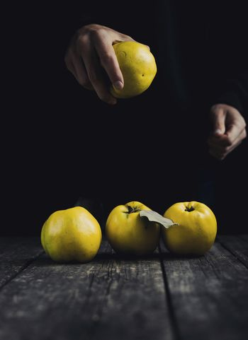 Fresh apple for eat...... Fruit Citrus Fruit Lemon Yellow Healthy Eating Freshness Food And Drink Table Studio Shot Indoors  Healthy Lifestyle Close-up No People Black Background Food Day Freshness Sweet Food Ready-to-eat
