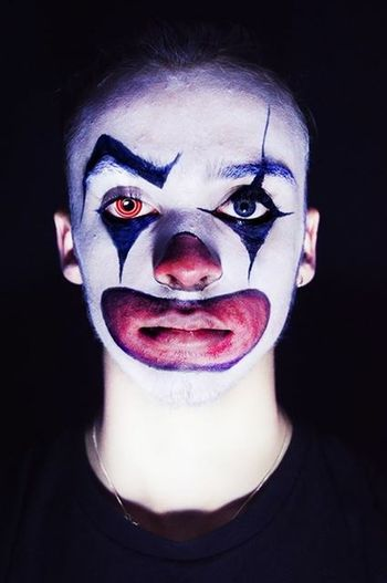 Clown Edit Eye Photoshop Composition Face Paint Halloweenspirit Photography Studio Shoot Shaddow Clear Follow4follow Like4like Firstyear Student
