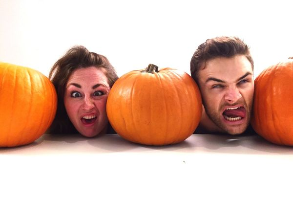 Halloween Pumpkin Vegetable Facial Expression Making A Face Horror Food Spooky White Background Looking At Camera Fun Screaming Food And Drink Shouting Anger Smiling Portrait Human Face Gourd Faces Of EyeEm Fun At Work