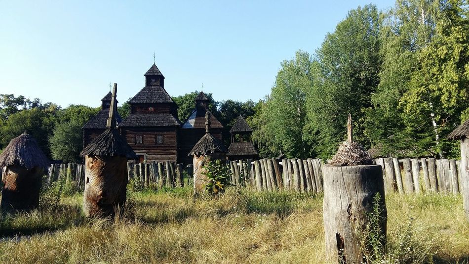 Apiary Tower Ancient Architecture Nature Beauty Summer Ukraine