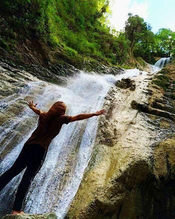 Matigol Falls Philippine Sceneries Trekking Outdoor Cloud - Sky Beauty In Nature Travel Destinations Adventures Unwinding Waterfalls In Philippines