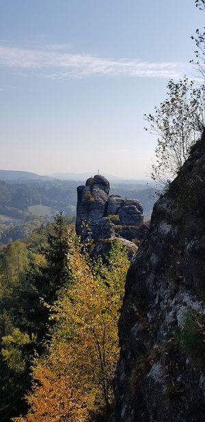 Elbsandsteingebirge Sky And Clouds Horizon Tree Bastei No People Outdoor Photography Stone Formation Sky