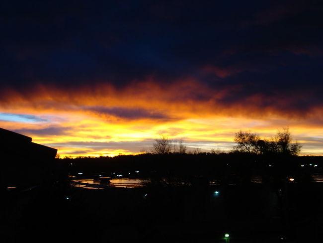 Sunset Twilight Sky Tranquil Scene Outdoors No Filter
