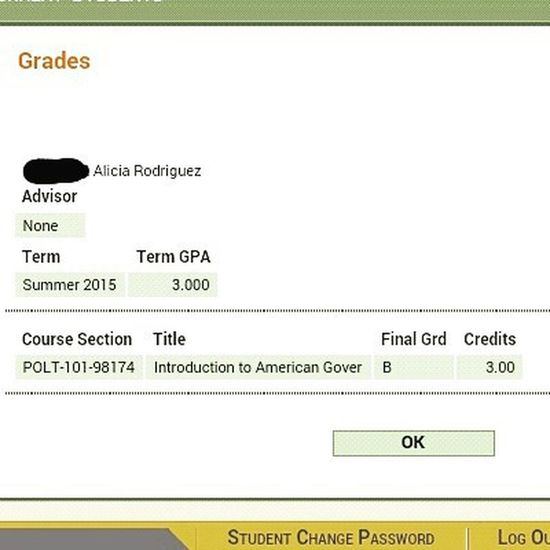 Yay Polisci Simplybeingalice not an A but not a C or less (: