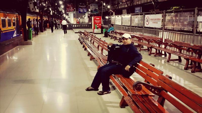 waiting @ Senen - train station.Start A Trip