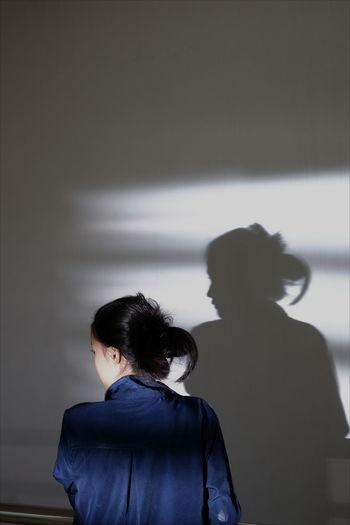 The Shadow Girl Shadow Shadows & Lights Women Young Women Business Rear View