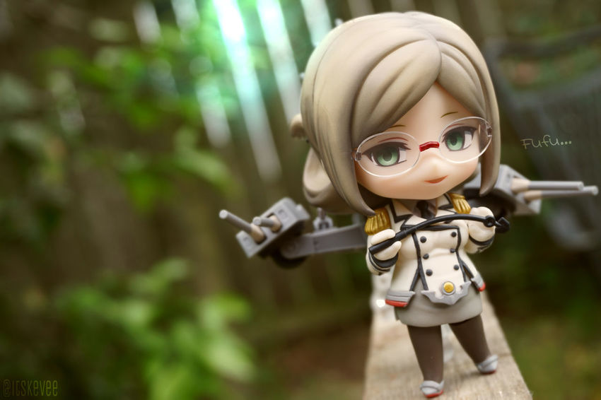 Katori: Fufu Katori Kancolle Kantaicollection Nendoroid 艦コレ 艦隊これくしょん ねんどろいど Toy Outdoor Photography Toyphotography Anime Selective Focus (null)Outdoors No People Focus On Foreground Day Creativity Colorful Art Multi Colored Green Color Figurine
