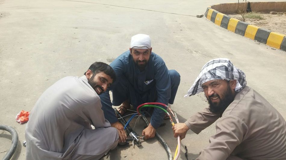 NCEG electricians at work Power Electricity  Electrician