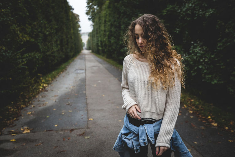 Autumn Autumn Colors Capture The Moment Casual Clothing Curls Curly Hair Longhair Moody Person Portrait Soundtrack Of Our Lives Standing Sweater Urban Escape Vienna