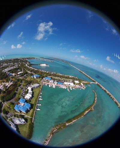 Hawks Cay Arial View Fish-eye Lens Outdoors Aerial View Day Water