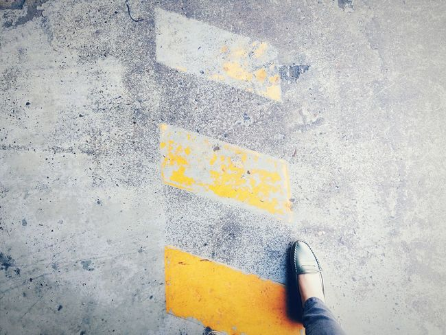 Fading away Close-up Flooring Yellow Stripe Road Sign Road Marking Road To Nowhere Foot Pathway Original Experiences Feel The Journey Showcase June The Minimalist 43 Golden Moments Colour Of Life Lieblingsteil Minimalist Architecture Neon Life