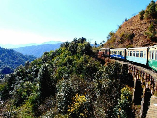 Train fron Shimla to Kalka, Himachal Pradesh. Train Toy Train Shimla Himachal Pradesh Himalayas India Feel The Journey