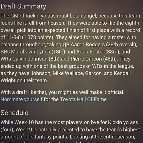 I dont know who comes up with this stuff but they must be a genius. Im so ready for football to start Teamkickinyoass Fantasyfootball Whooodat