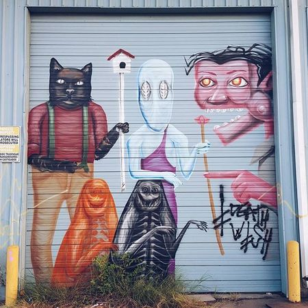 Grafitti Streetart Houston cat mystic vscocam