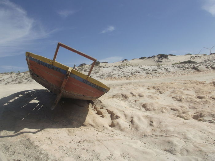 # PARKED BUT USABLE Anchor - Vessel Part Calm Canoa Quebrada-CE Coastline Handcraft Mode Of Transport Paradise Raw Photography Sand Transportation