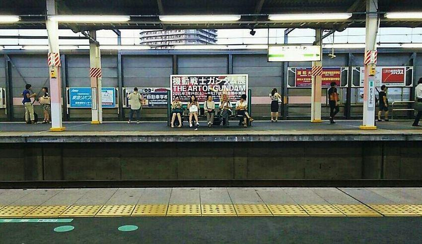 何!👀ガンダム展!(*゚O゚*)行きて~♡ THE ART OF GUNDAM ガンダム Gundam Station 駅 ホーム Japan