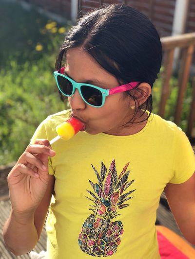 Colours of the sun Sunglasses Real People Glasses One Person Leisure Activity Lifestyles The Portraitist - 2018 EyeEm Awards Fashion Front View Yellow Child Casual Clothing The Fashion Photographer - 2018 EyeEm Awards