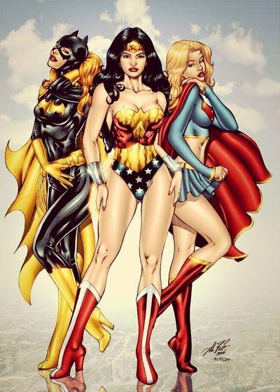 good morning guys... have a nice day.... Catwoman CatWomen Wonderwoman Batgirl