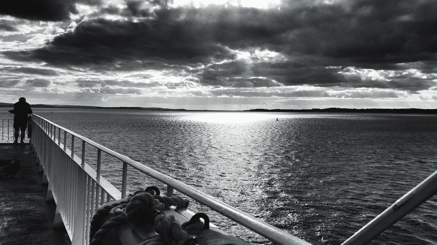 I just couldn't decide what was..........Railing Water Men Sea Sky Cloud - Sky Walkway Tranquility Tranquil Scene Scenics Solitude Outdoors Cloudy Ocean Remote Black And White Blackandwhitephotography Nature People And Places.