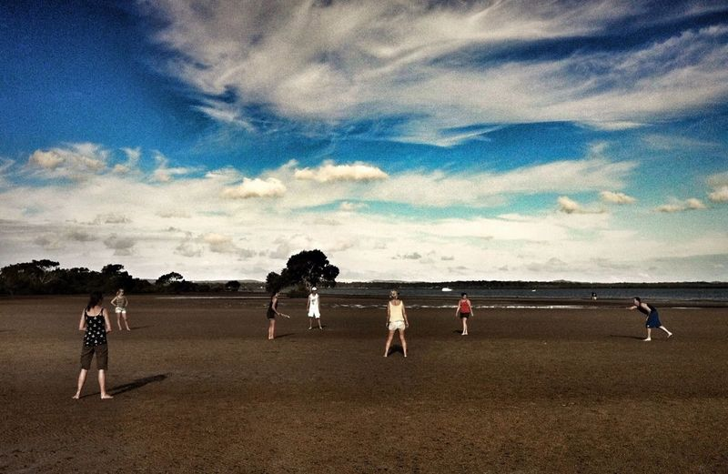 Cricket at Victoria Point - you can only play at low tide ;)
